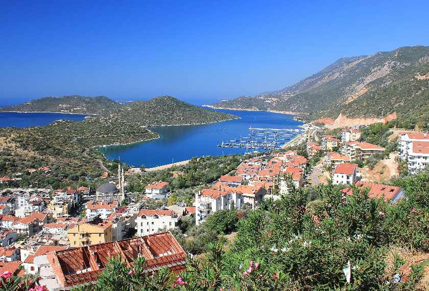 Mediterranean town of Kas in southern Turkey