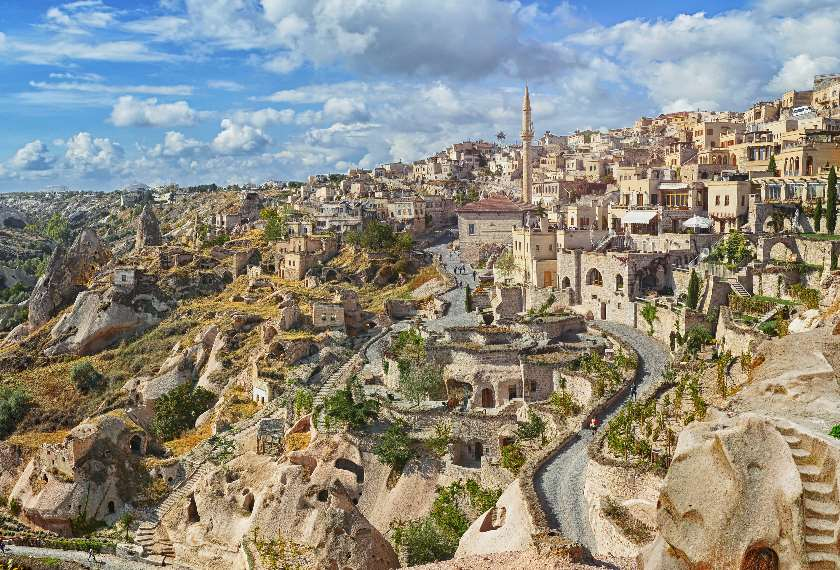 Nevsehir Cave Town in Cappadocia, central Turkey